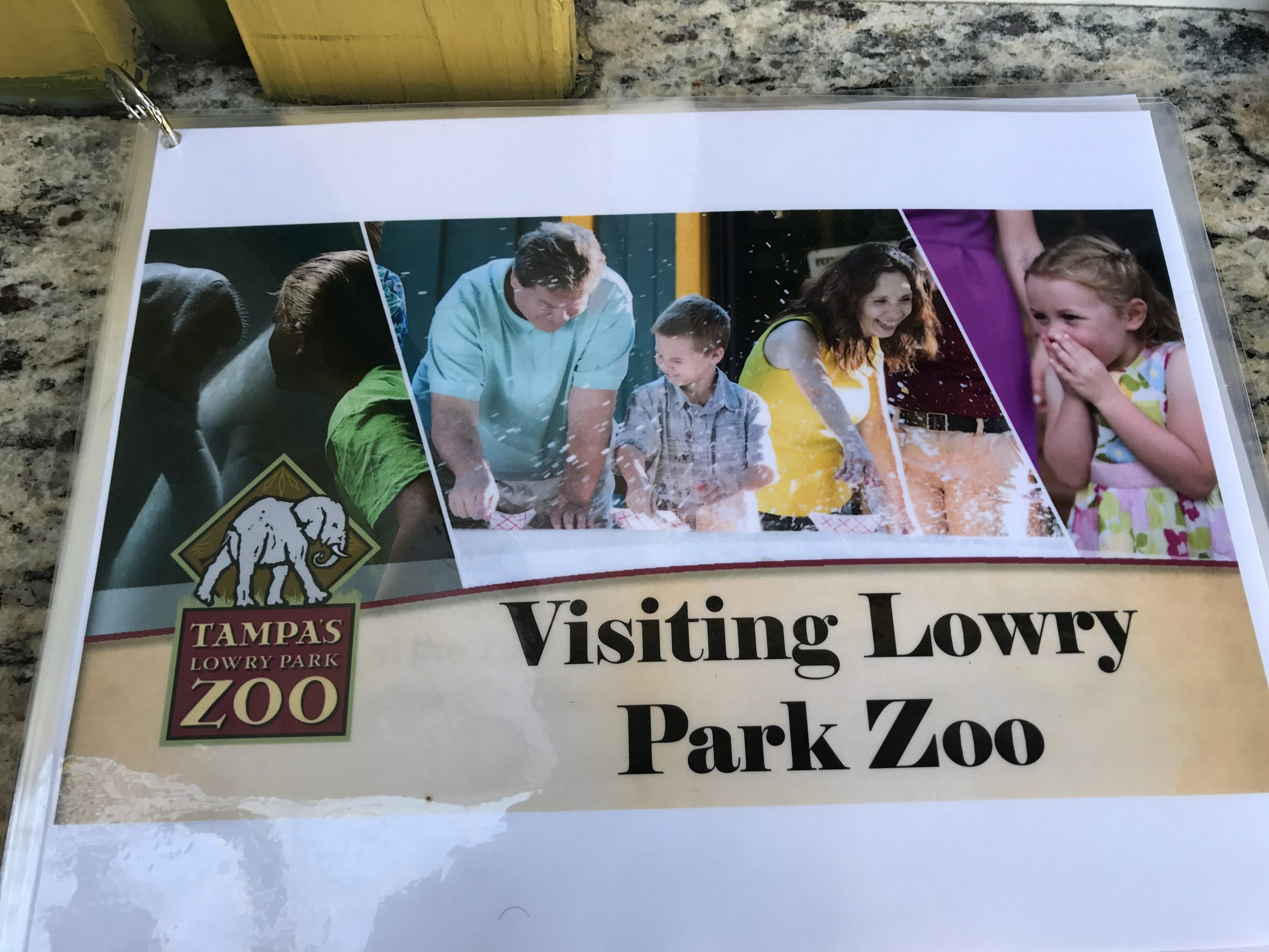 Tampa Lowry Park Zoo's laminated social story