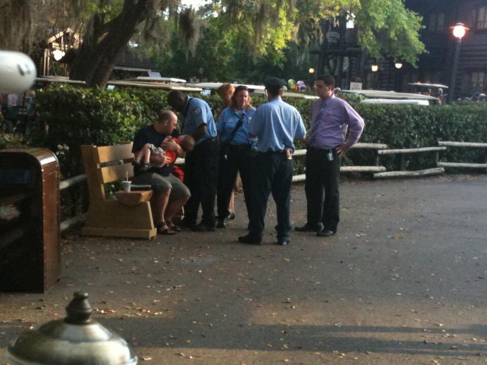 Being checked out by an EMT at Walt Disney World's Fort Wilderness Resort