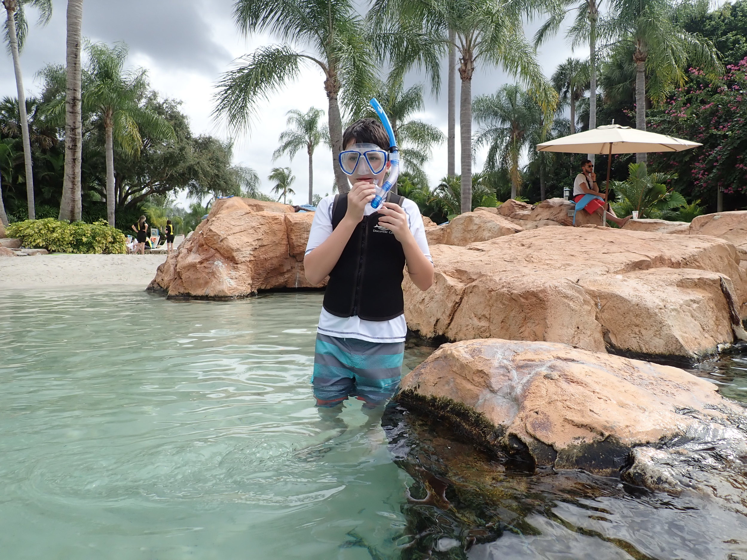 Not quite ready to try snorkeling