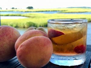 As part of Produce Month, Catch 54 in Fenwick Island has created a peach old-fashioned cocktail, made with local peaches from Bennett Orchards and Sagamore Rye whiskey.