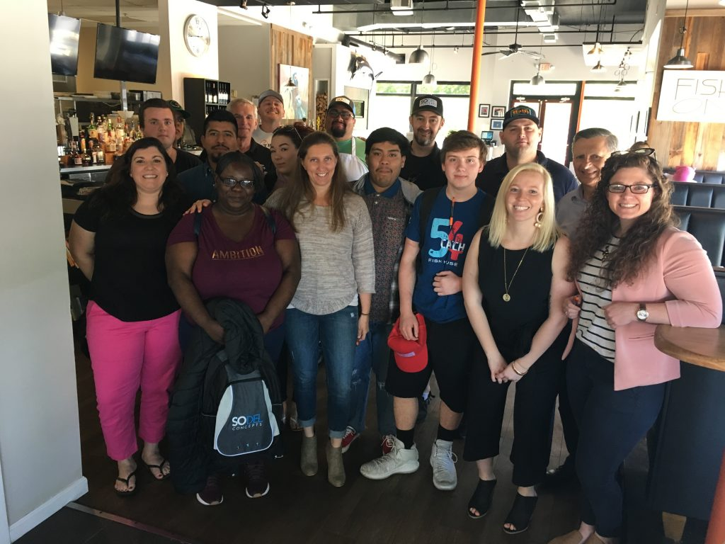 The first class of young restaurant workers in the state's new Registered Apprenticeship Program, sponsored by SoDel Concepts.