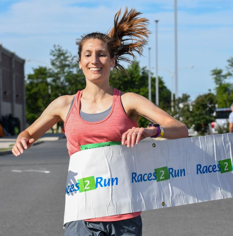 Katie Tomlinson wins the women's race.