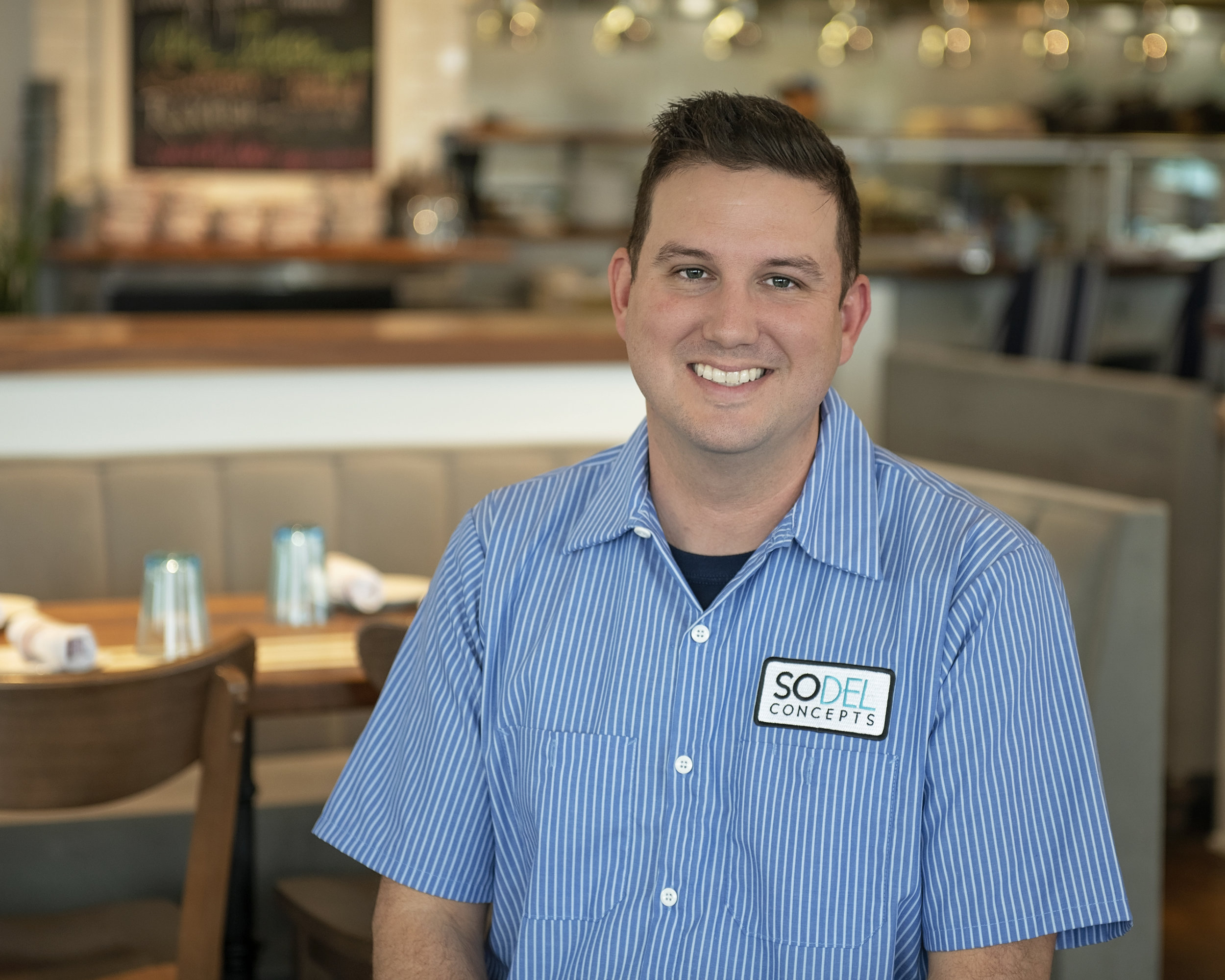 Chris Sockriter was recently promoted to the position of director of asset management for SoDel Concepts, a hospitality group with 11 restaurants. A brewpub, Thompson Island, is under construction. [PHOTO PROVIDED]