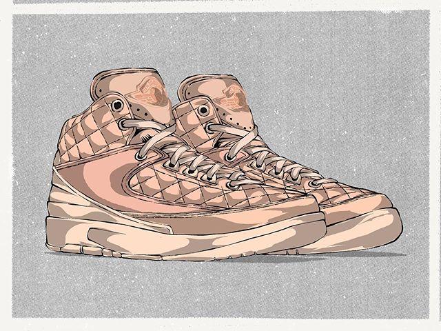 A premium take on the Air Jordan II by @chicagodonc . Formally named the 'Just Don Arctic Orange'. The level of detail on these are pure 🔥🔥 . . . . . #nike #jordan #nikeair #offwhite #michaeljordan #chicagobulls #airjordan #jordan1 #art #sneakers #shoes #illustration #creative #artdirector #designer #design #chicago #rsvpchicago #rsvp #jordan2 #airjordans #donc #justdon