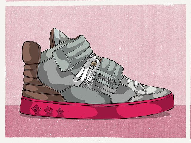 Let's go back in time for a bit. Was feeling inspired by Kanye West's Forbes magazine article and the ring of shoes he created for it. I wanted to take a look back at Kanye's collaborations through out the years. In 2009, he collaborated with Louis Vuitton and worked on a number of different models. This one in particular was one of my favorites. It's the LV Jasper Patchwork in grey/pink 🔥🔥🔥