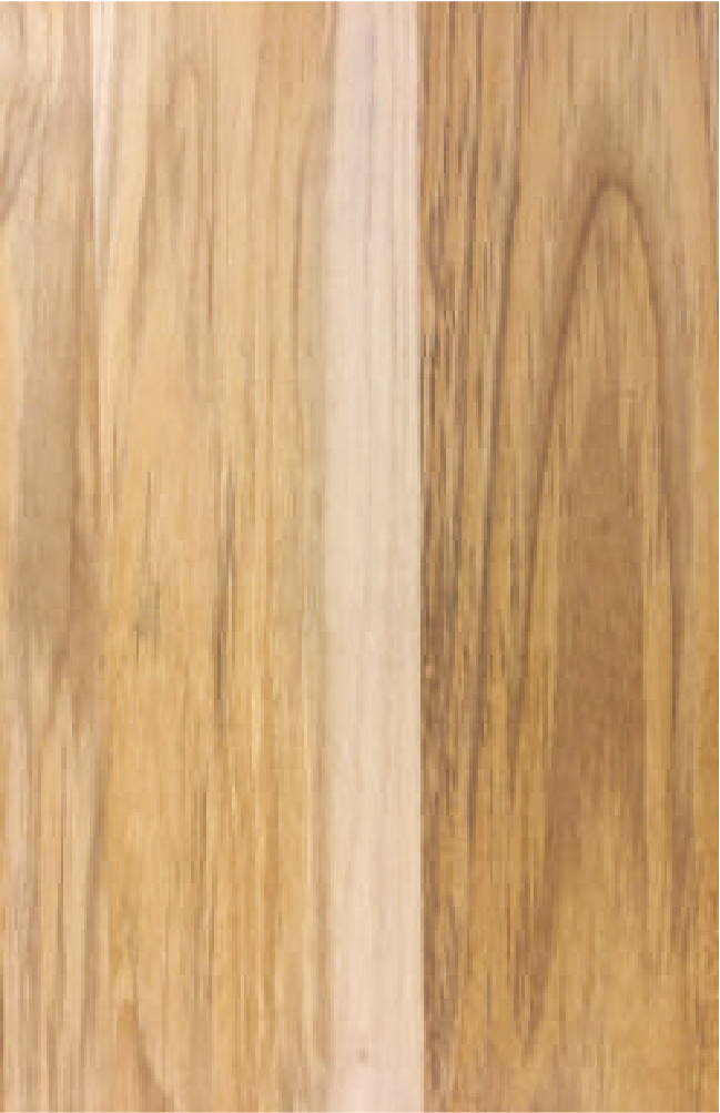 GRADE B : 70% heartwood best face sapwood best face up to 30% and back face. Live knots allowed both faces. No pith, decoloration, blue stain, pinholes crack or dead knots allowed.
