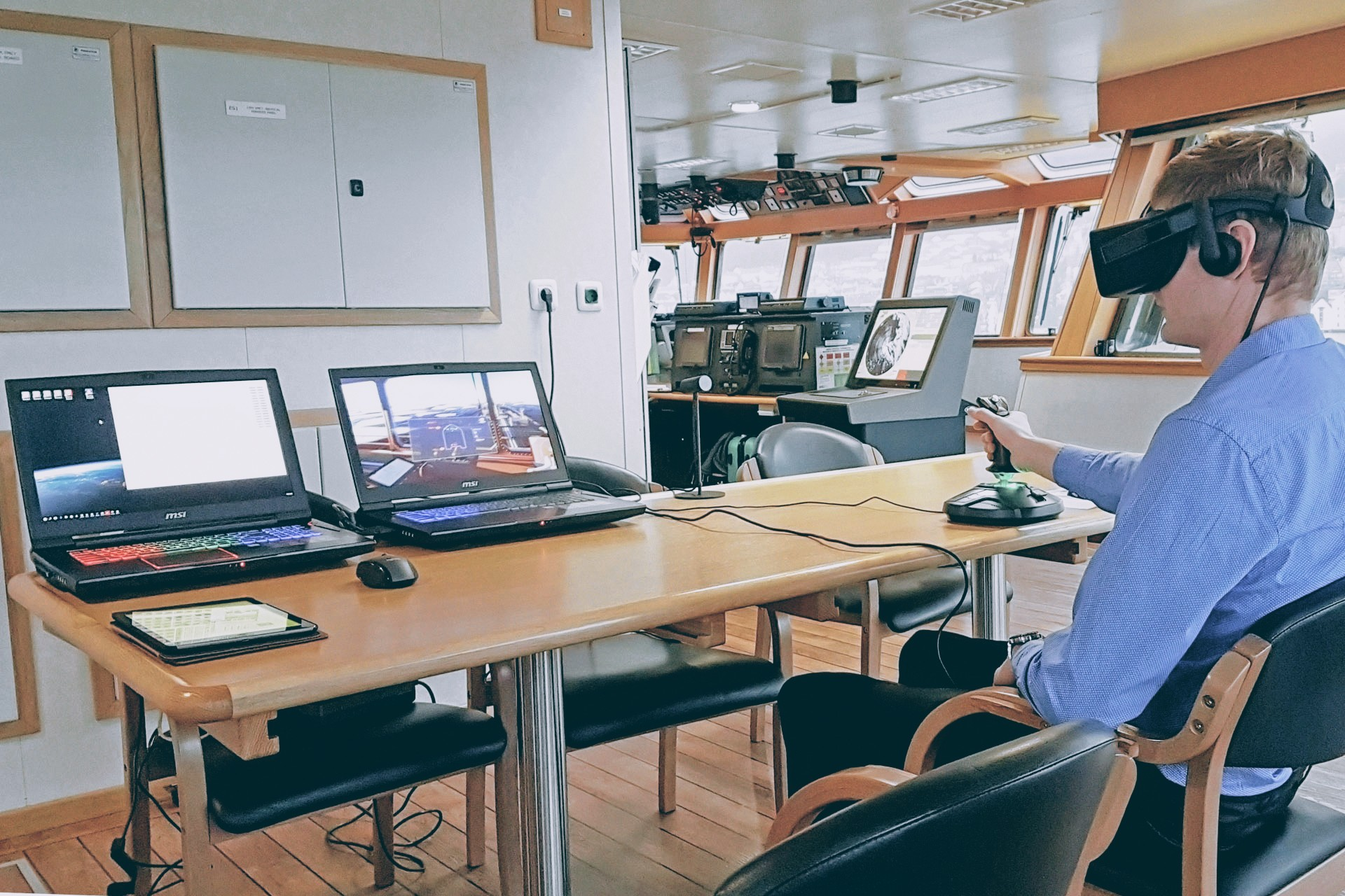 On-board training icebreaker Magne Viking