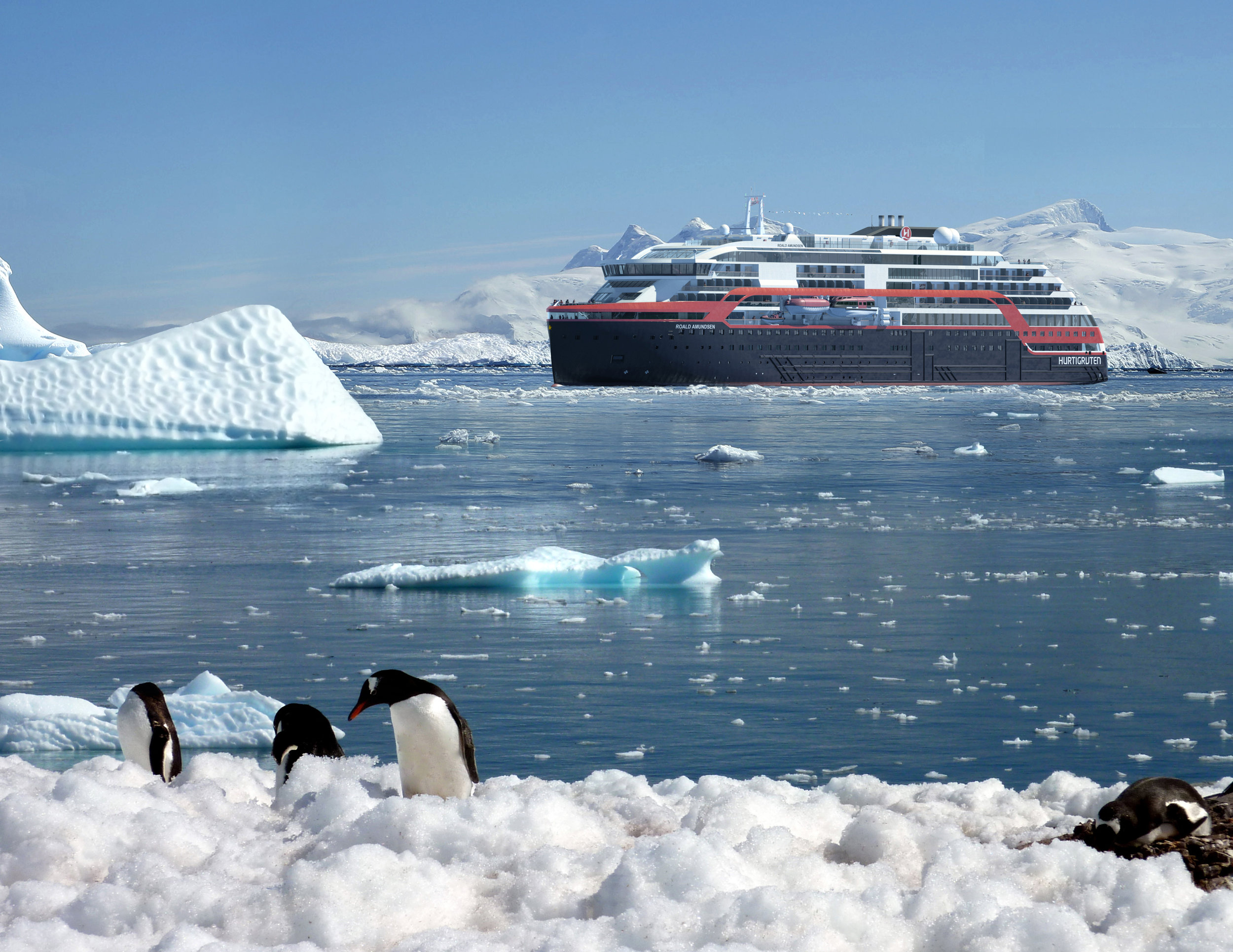 The expedition cruise ship MS Roald Amundsen will be an option in Morild IceNav.