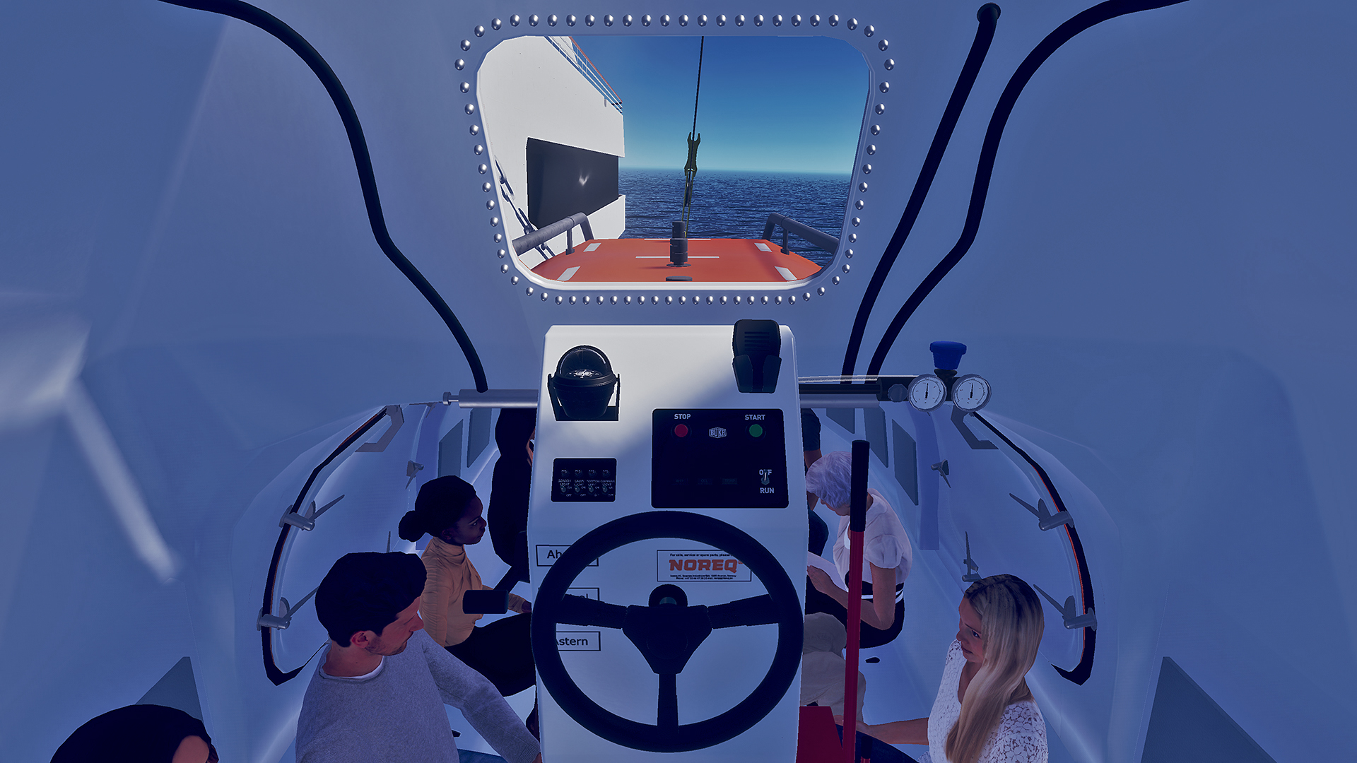 Soon to be launched - VR lifeboat simulator