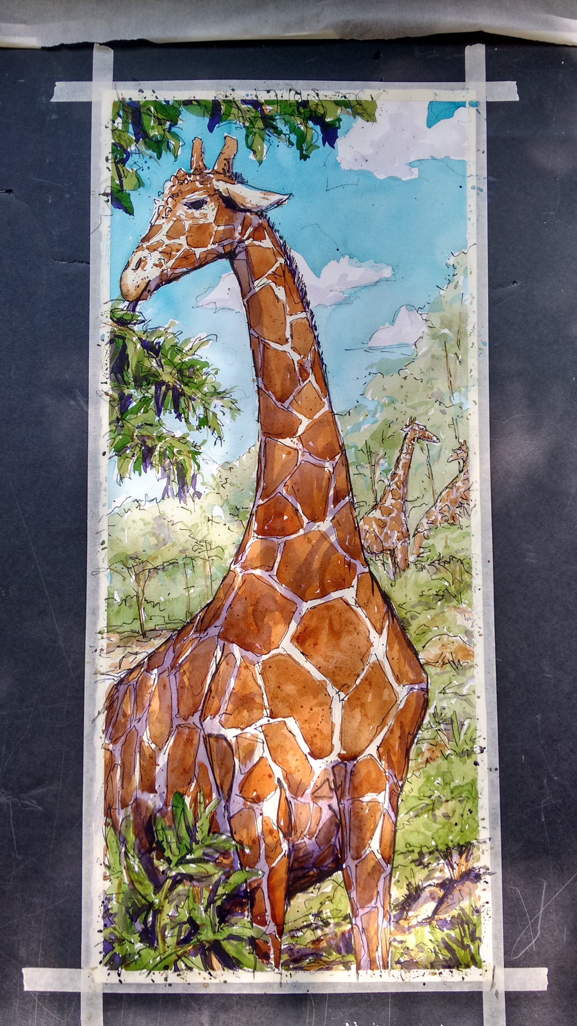 Art Gone Wild @ Zoo Atlanta- last day giraffe....