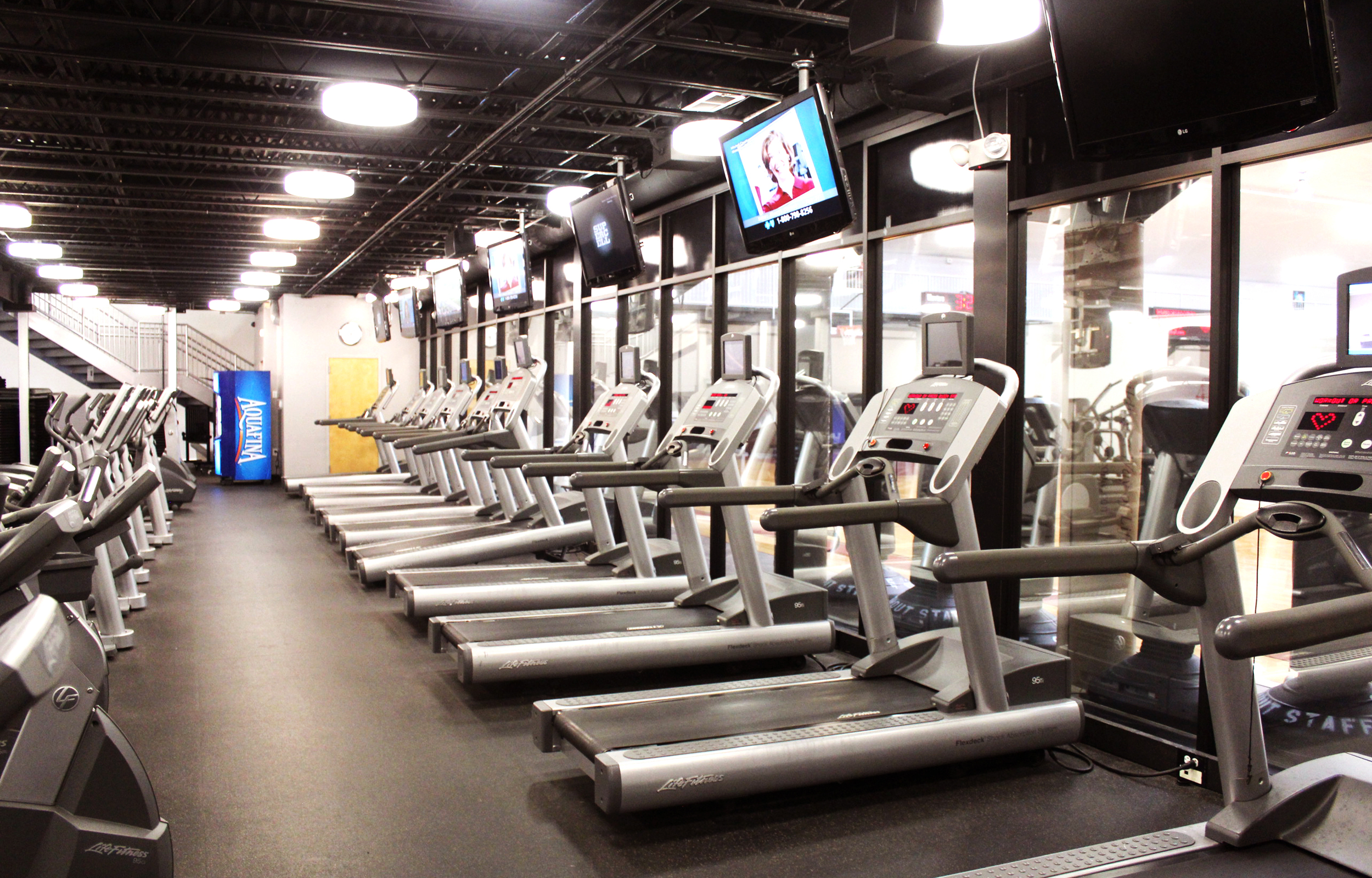 Cardio Room  - featuring treadmills, bikes, stair climbers, and elipticals