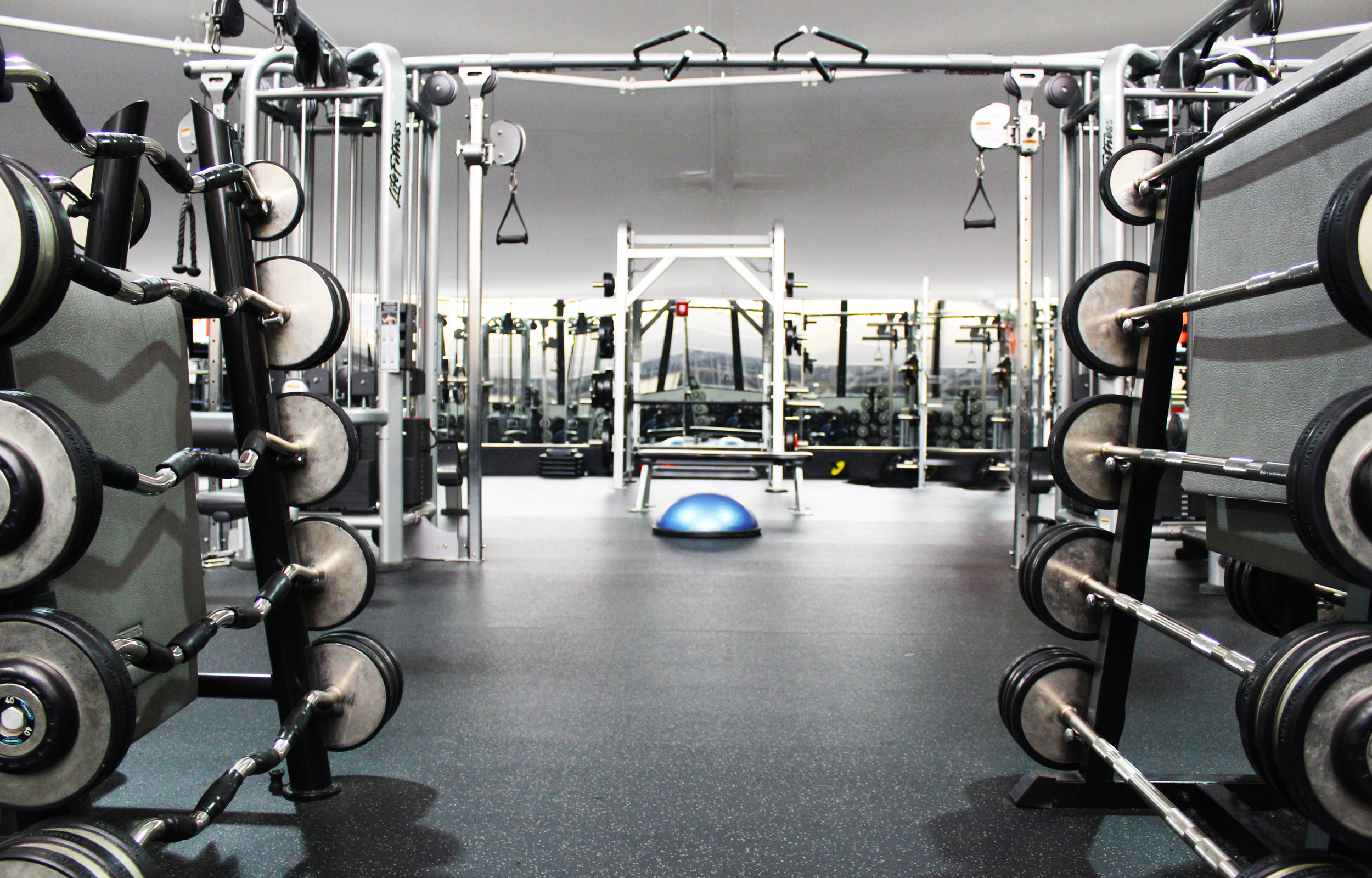 Weight Room  - featuring weighted bars and crossover station