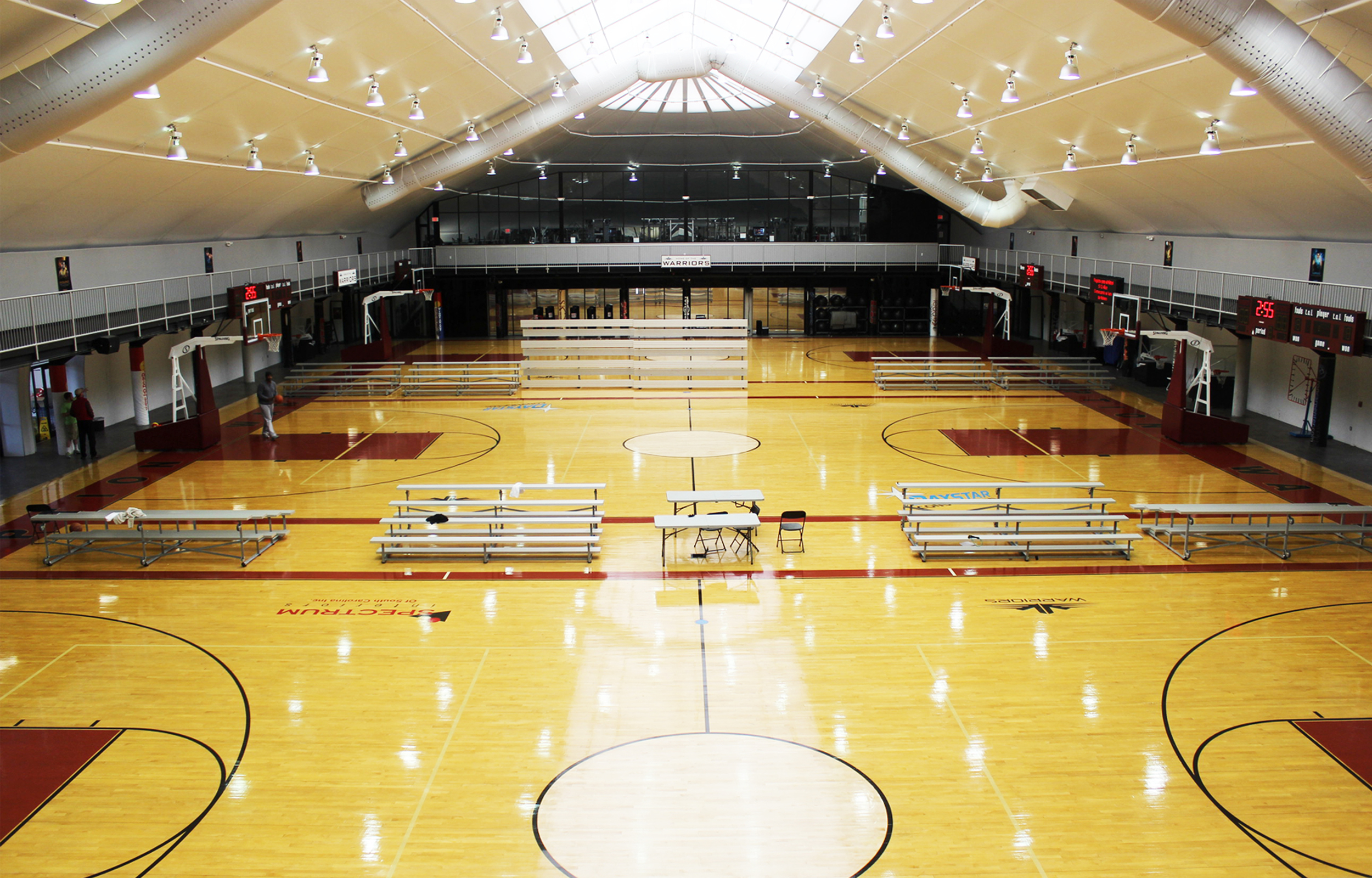 Three Basketball Courts  - featuring collegiate-size courts with balls provided