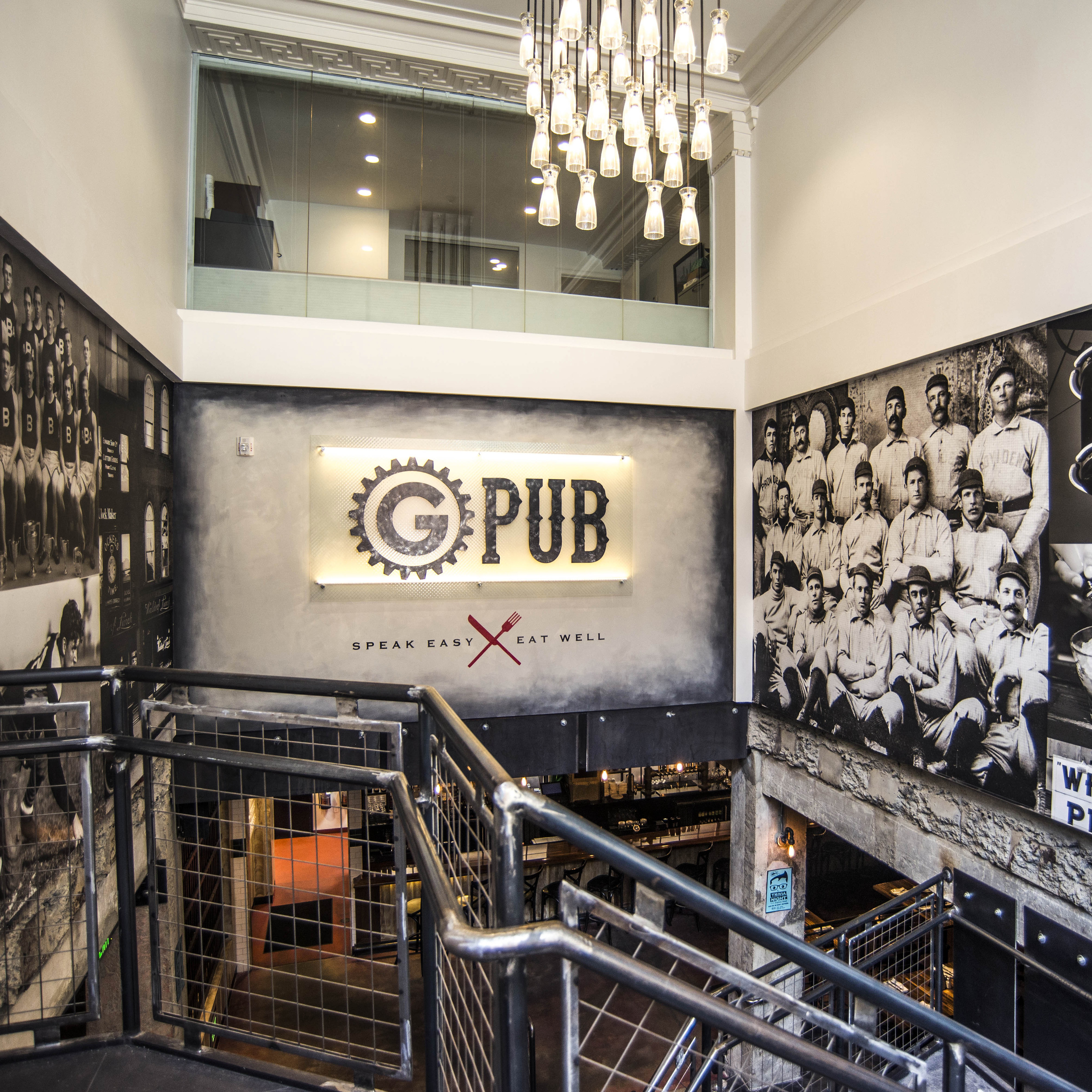 Corporate Art Group Bar Signage Murals