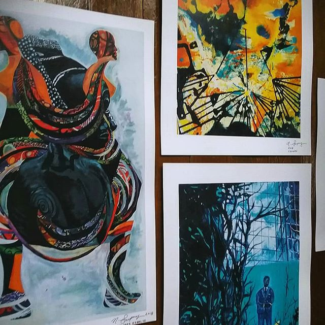 Prints now AVAILABLE!! Go to www.sampongart.bigcartel.com. I also updated my website www.nanasampong.com  #artprints #art #artistsofinstagram #contemporaryart #artcollector #paper #prints #painting #instagramart #instaart #instagramartist #afropunk #color #original #houstonartist #africanartist #worksonpaper