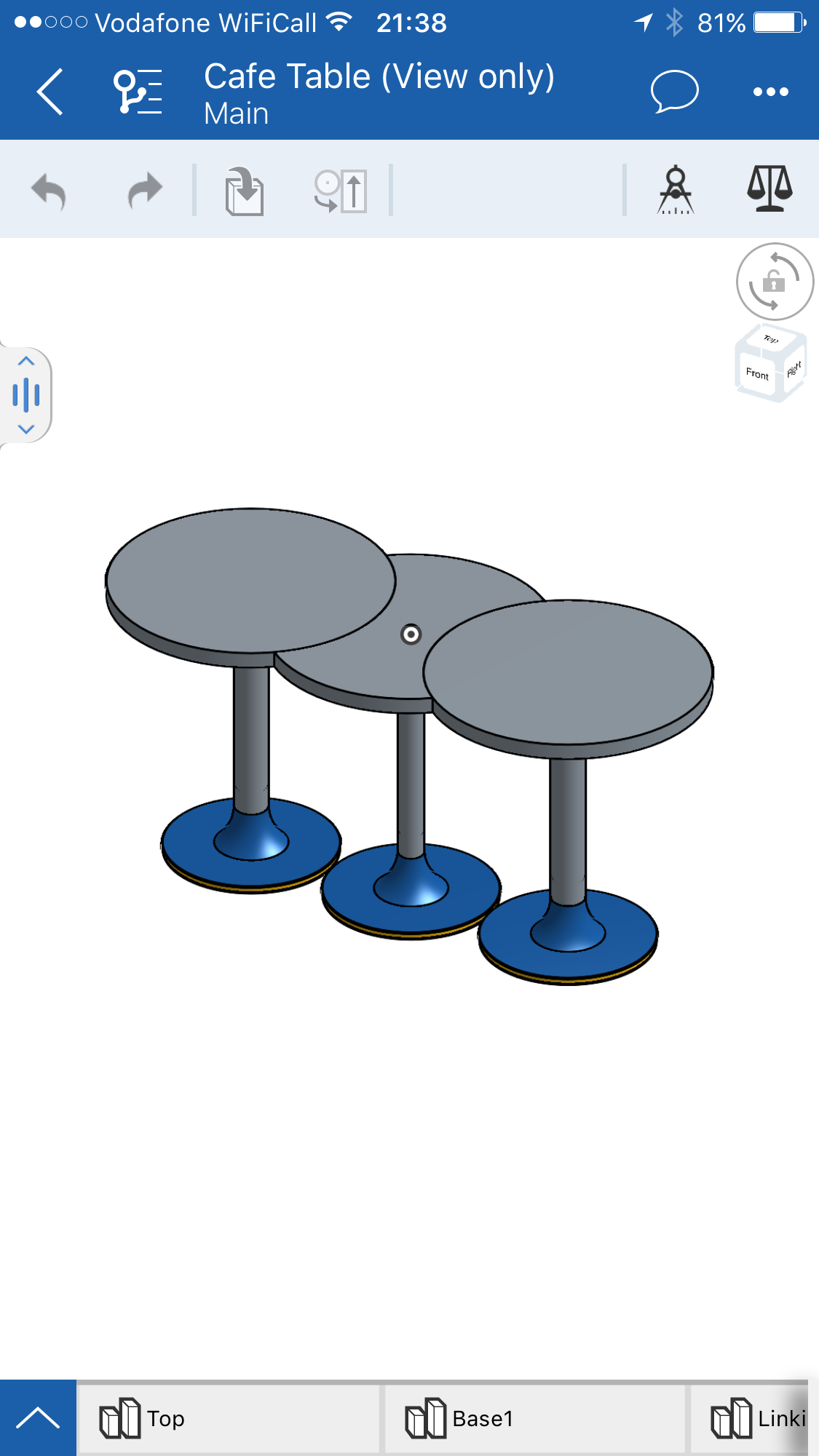 Cafe Table 3D visualisation