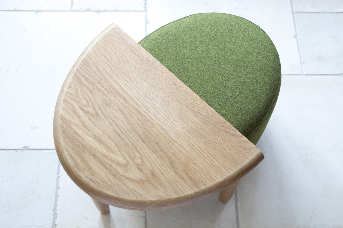 Acorn Tables and Foot Stool