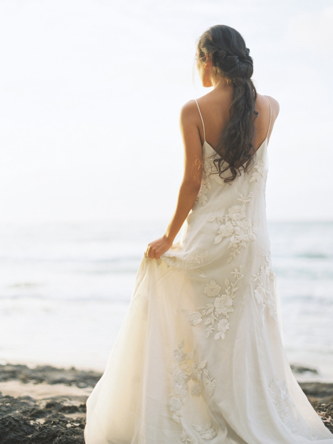 Photo of our Houghton gown via Style Me Pretty by Kylie Martin Photography