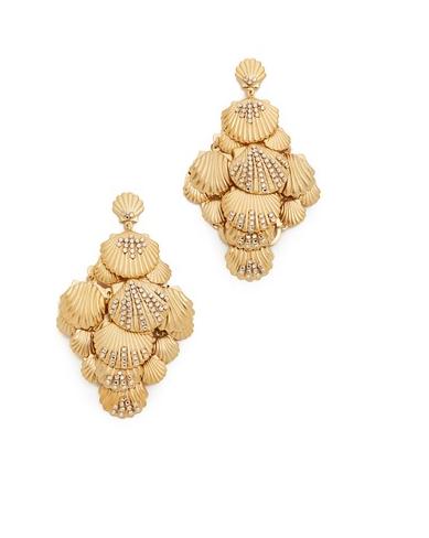 stylish beach wedding earrings