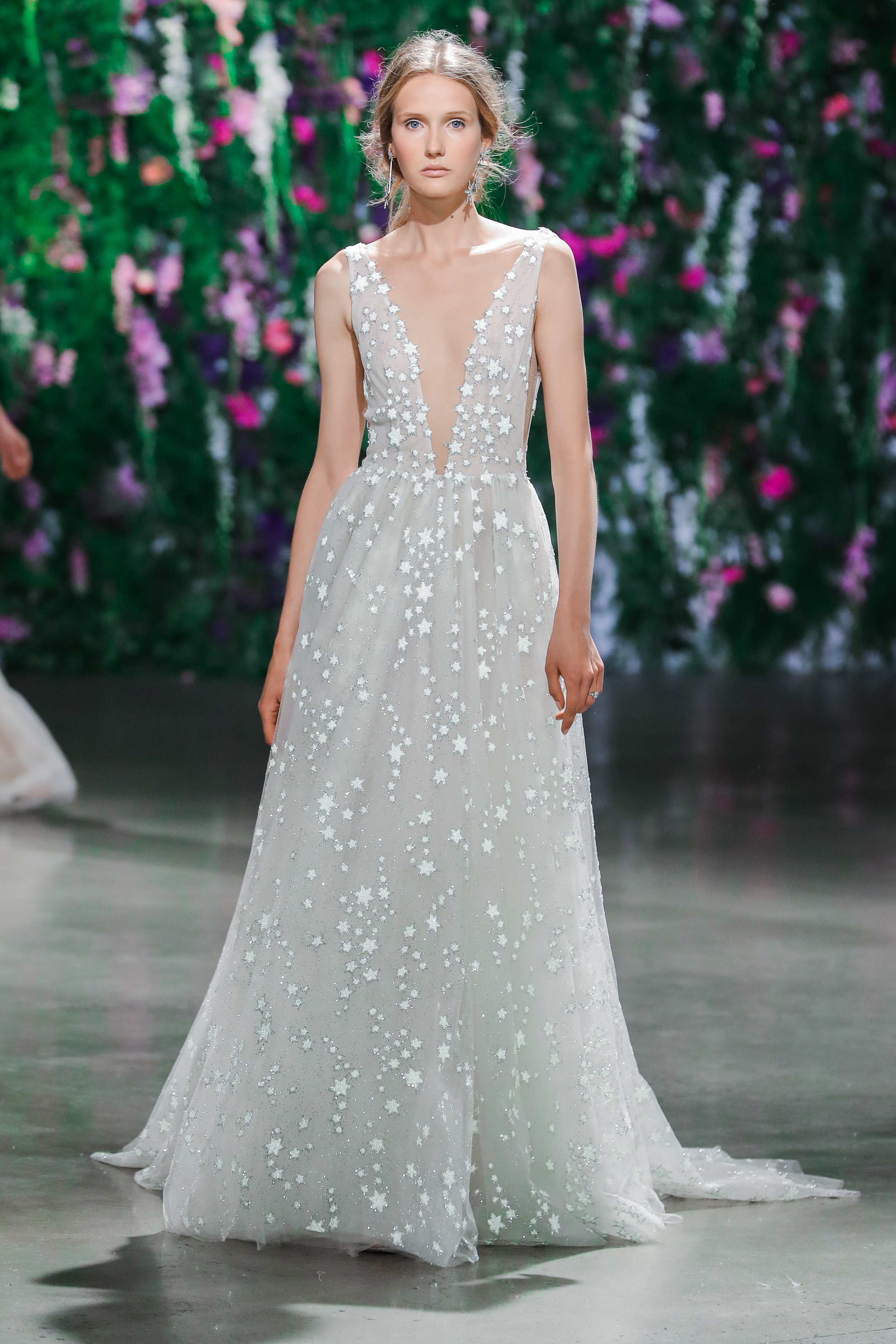 star-print-wedding-dress
