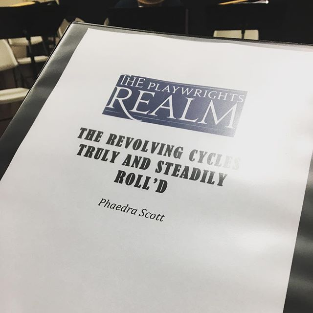 "First day of rehearsal! Thrilled to say that I will be Assistant Directing ""The Revolving Cycles Truly and Steadily Roll'd by Jonathan Payne, my first play OFF BROADWAY @playwrightsrealm. So excited to be a part of this team of incredible people, and so so so much creative blackness. #RevolvingCycles #offbroadway #directing"