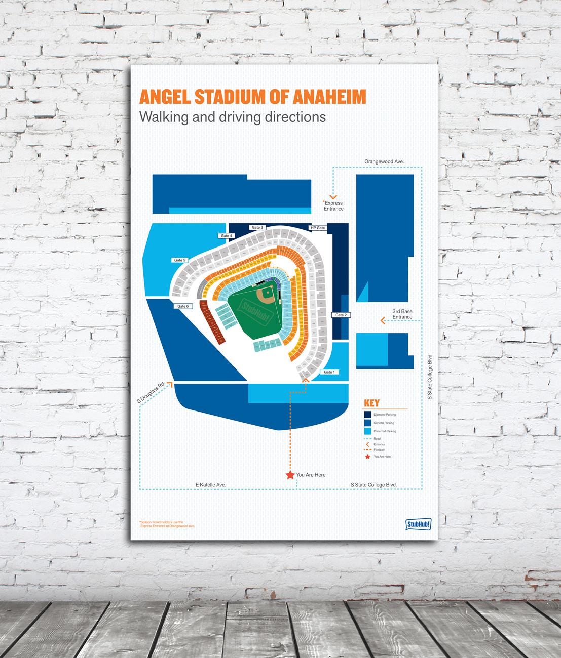 Anaheim Stadium Seat Map