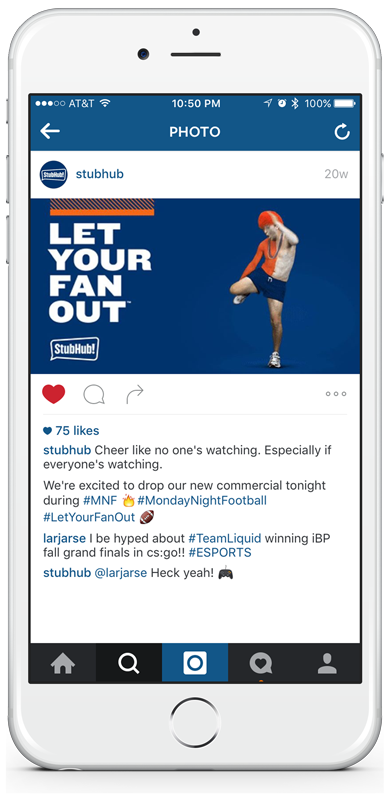 Instagram Let Your Fan Out Post