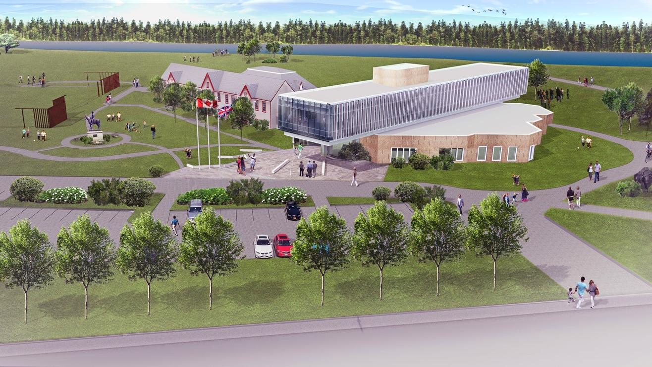 Artist's rendering of master plan development for Fort Calgary