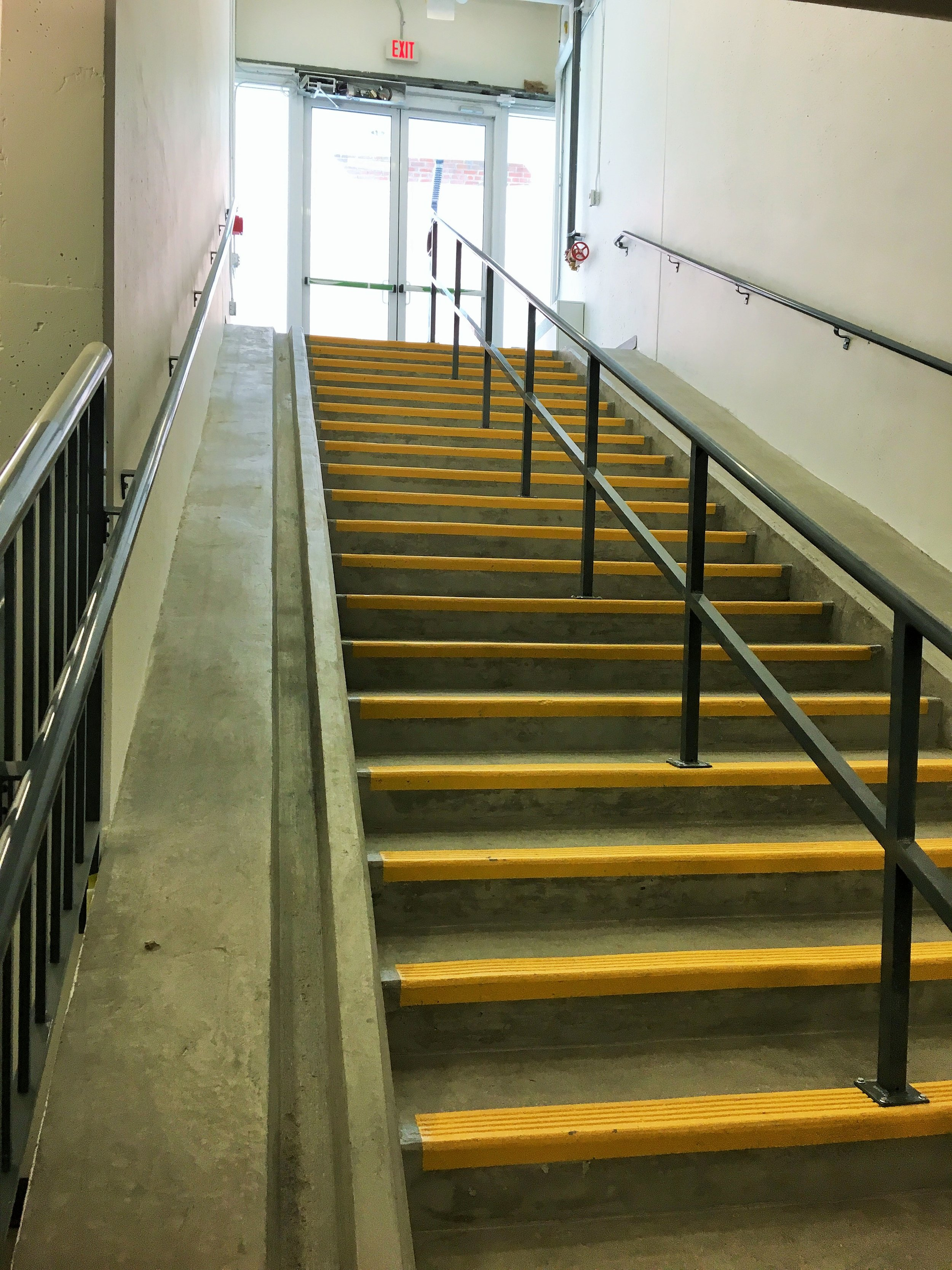 Bike ramps make it easy to bring your 2-wheeler into bike parking downstairs.