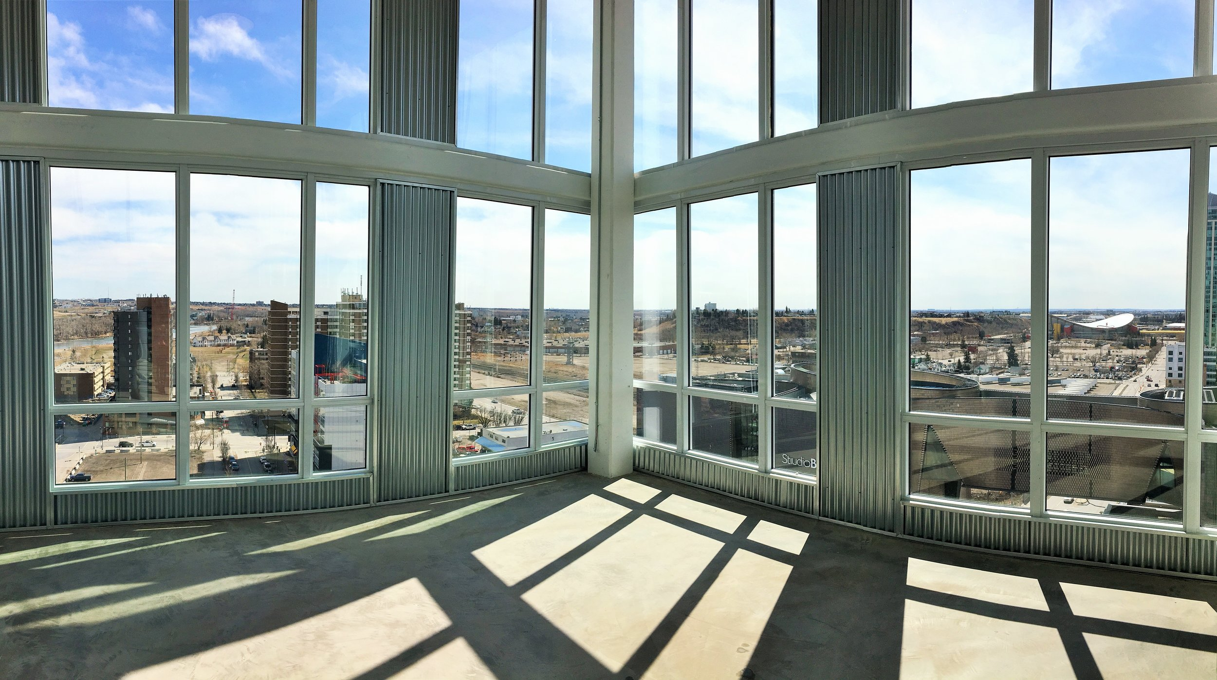 This space will host the fitness centre. Check out the amazing view!