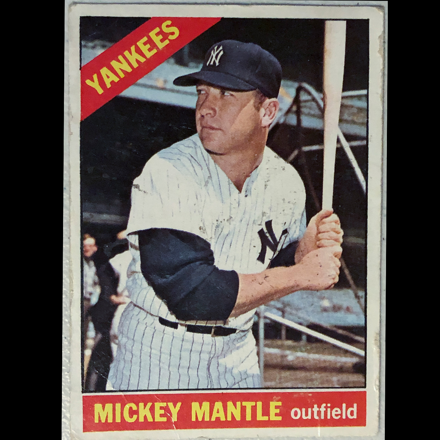 A baseball legend, love the fact no one cared about the background with the batting cages in this image.