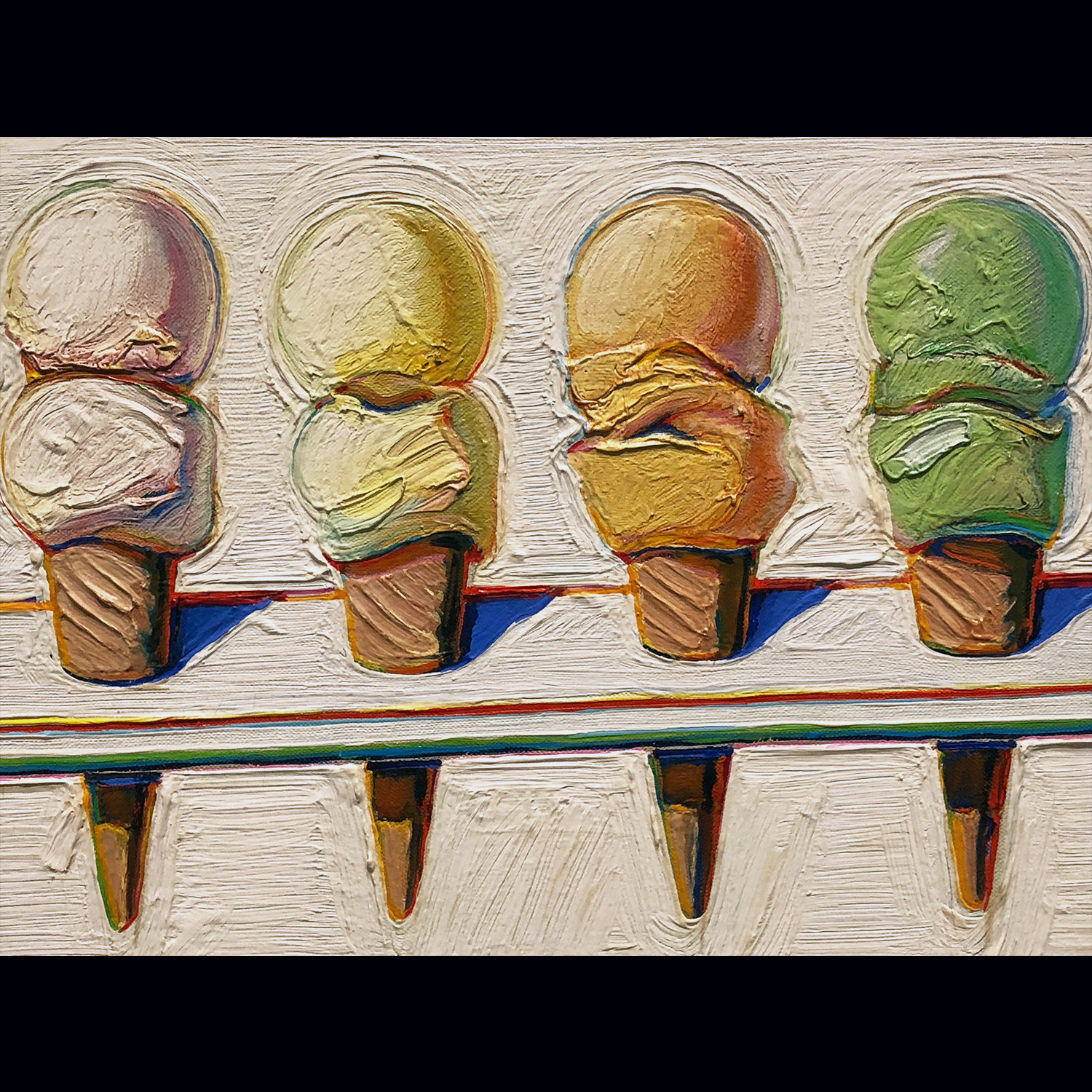 Four Ice Cream Cones - Wayne Thiebaud