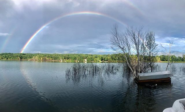 Happy 4th of July, double rainbow on Silver Lake!