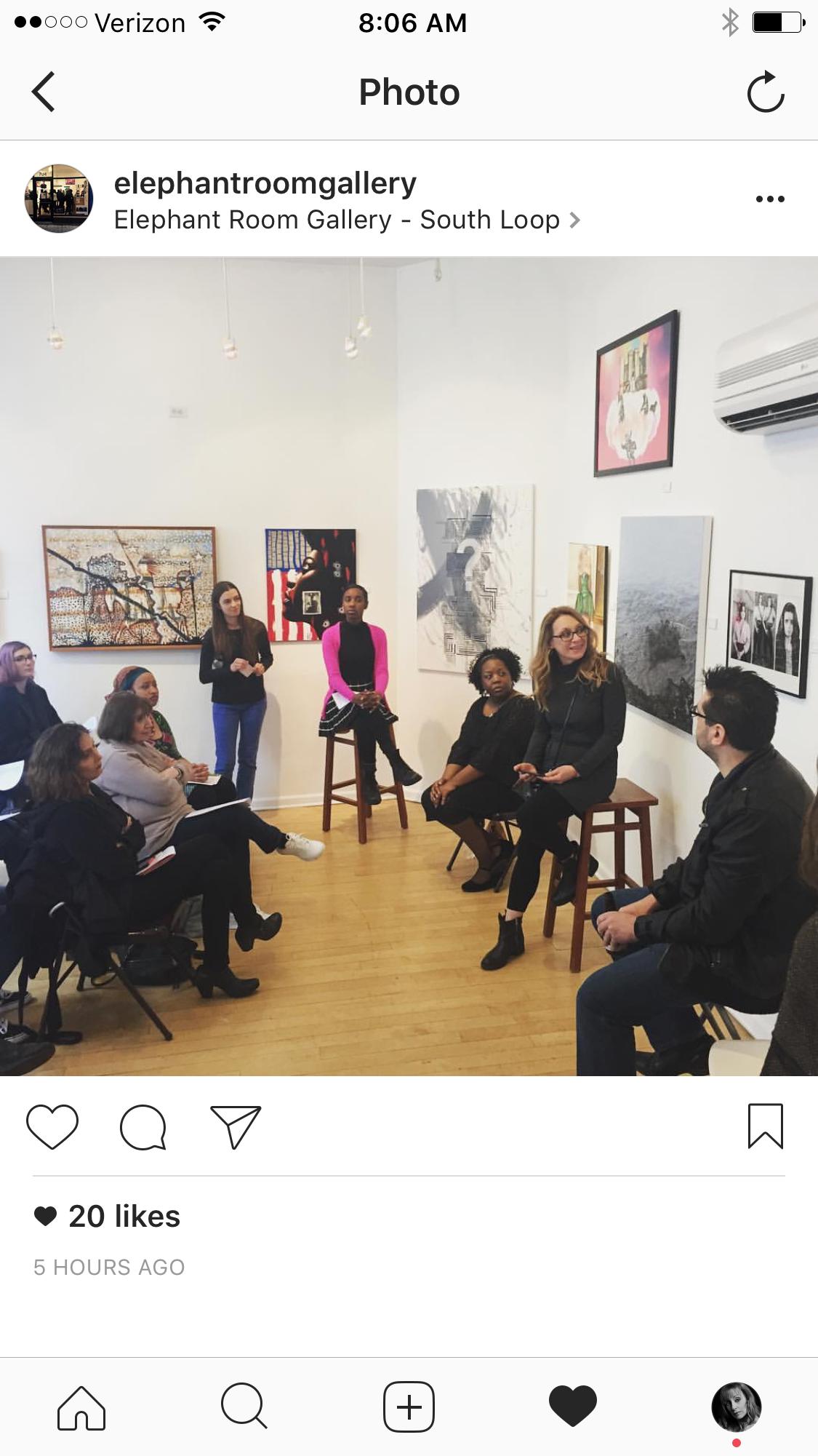 Artist talk at Elephant Room