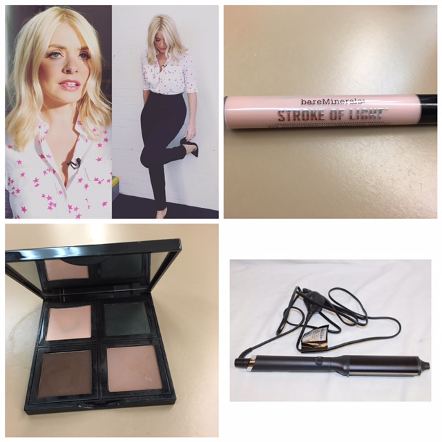 """Bare Minerals / Stroke of light     Amazing under eyes concealer      Bobbi Brown / eyeshadow's in Shell/ Sable/ Rich Brown       GHD """"Curve"""" hair tongs are the best for that """"no wave - wave""""      Lip's/ Bourjois Rouge Edition Velvet No7 & Bare Minerals Pretty Amazing Confidence      Lashes / Ardell Wispies and Duo glue"""