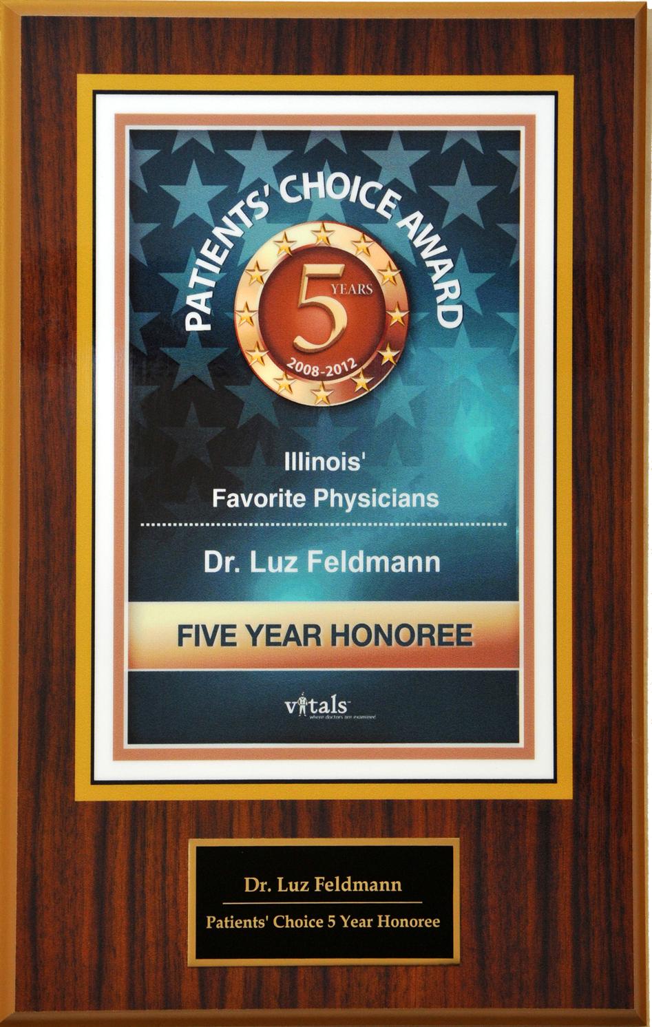 Click Award to Enlarge