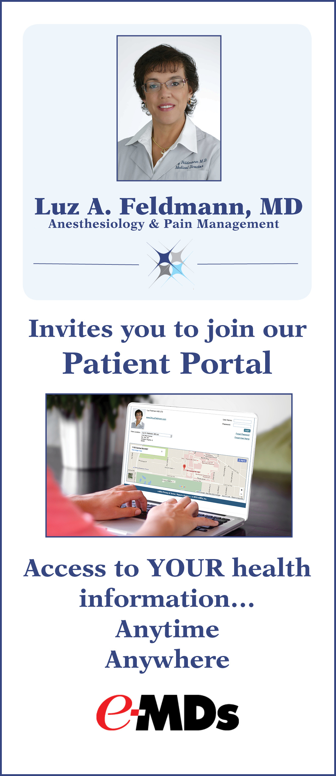 Click here  to download a pdf of patient portal information