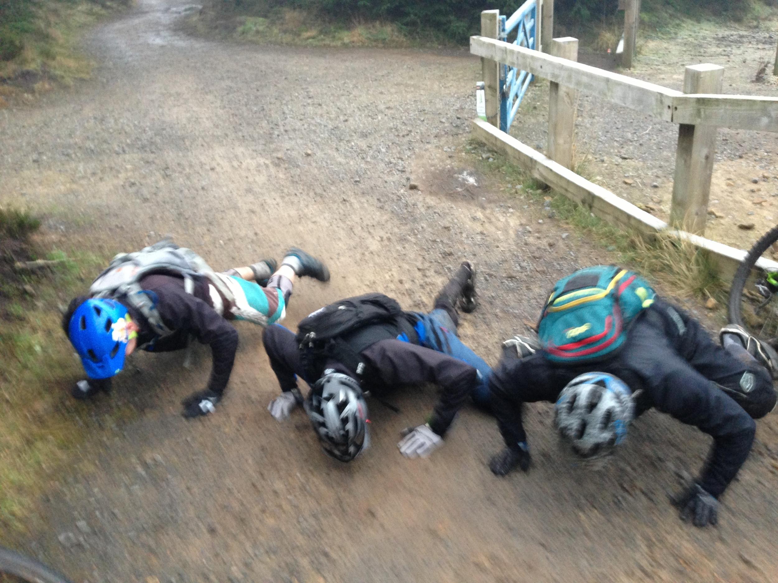 Blue Steel spider push ups on a recent ALine Hamsterley Social!