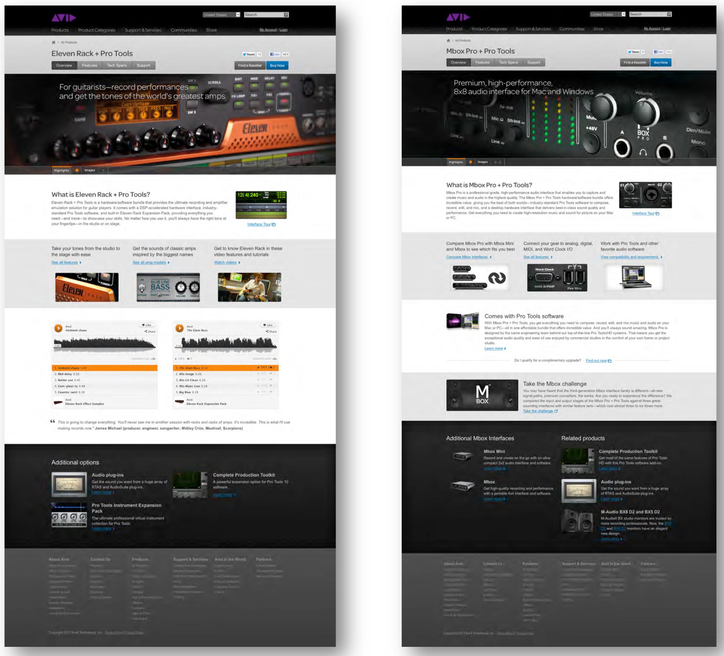 Avid Website Redesign