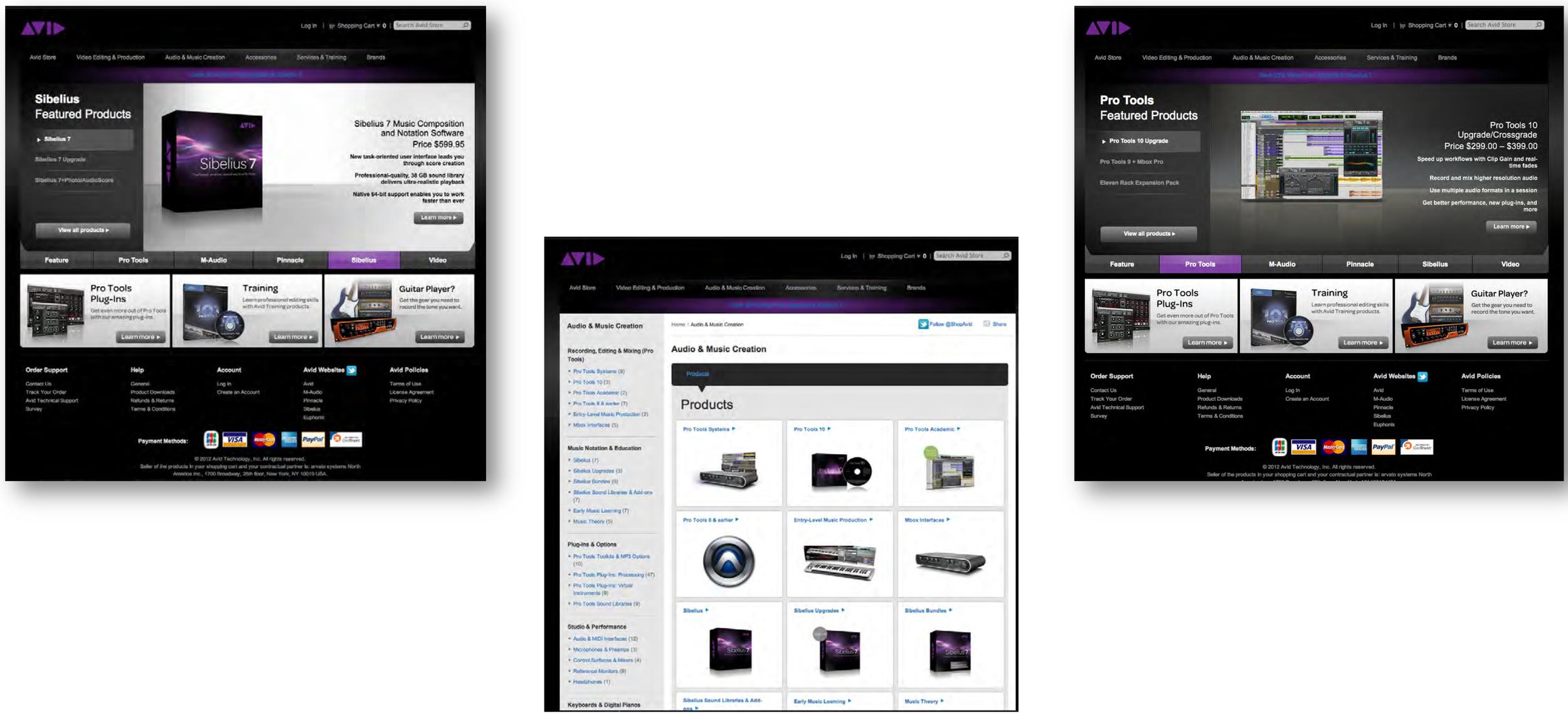 Avid Ecomm Website Redesign