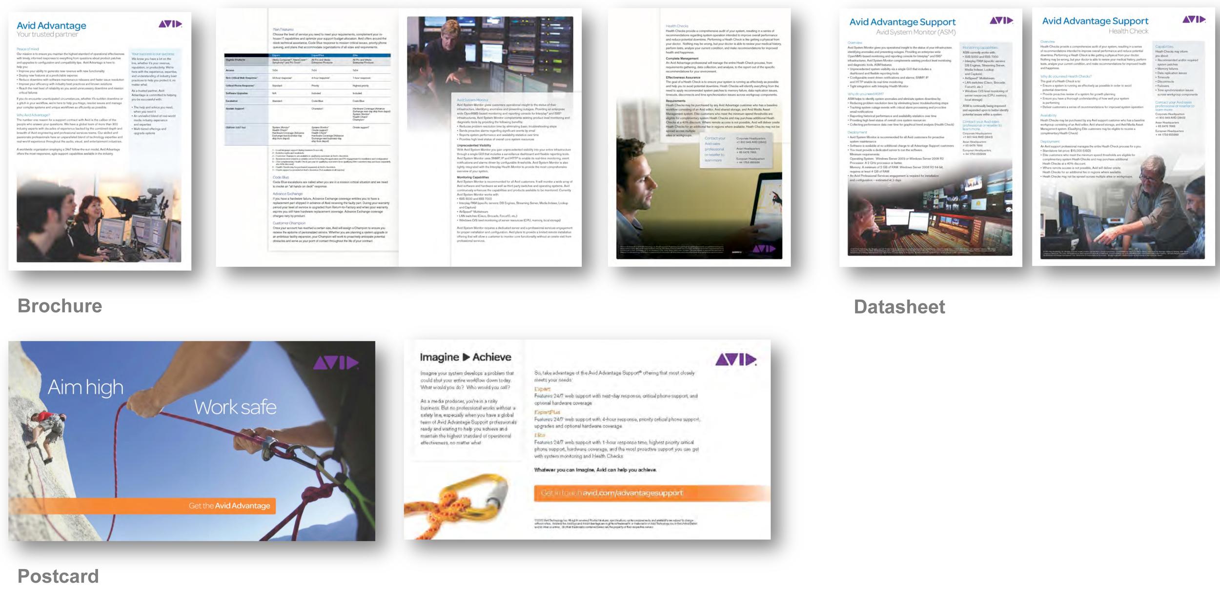 Avid Customer Support Materials