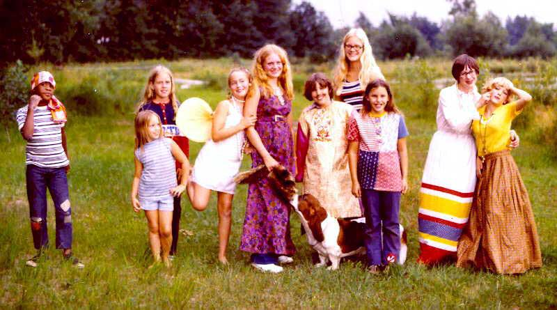 """On Crooked Lake, 1973. The """"Book Club"""" summer gathering at Ruth and Russell Nash's in Minnesota."""