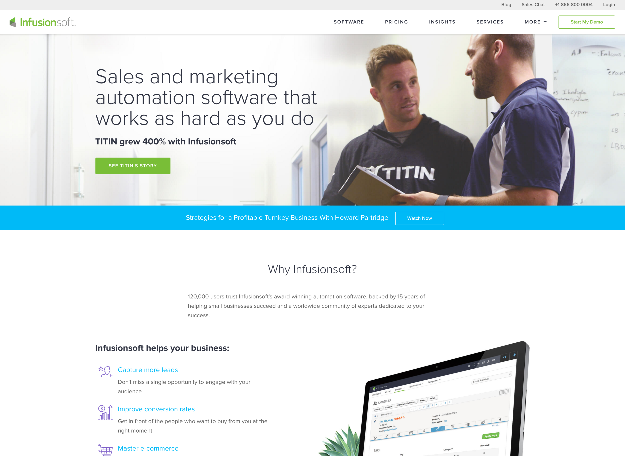 Click to visit InfusionSoft