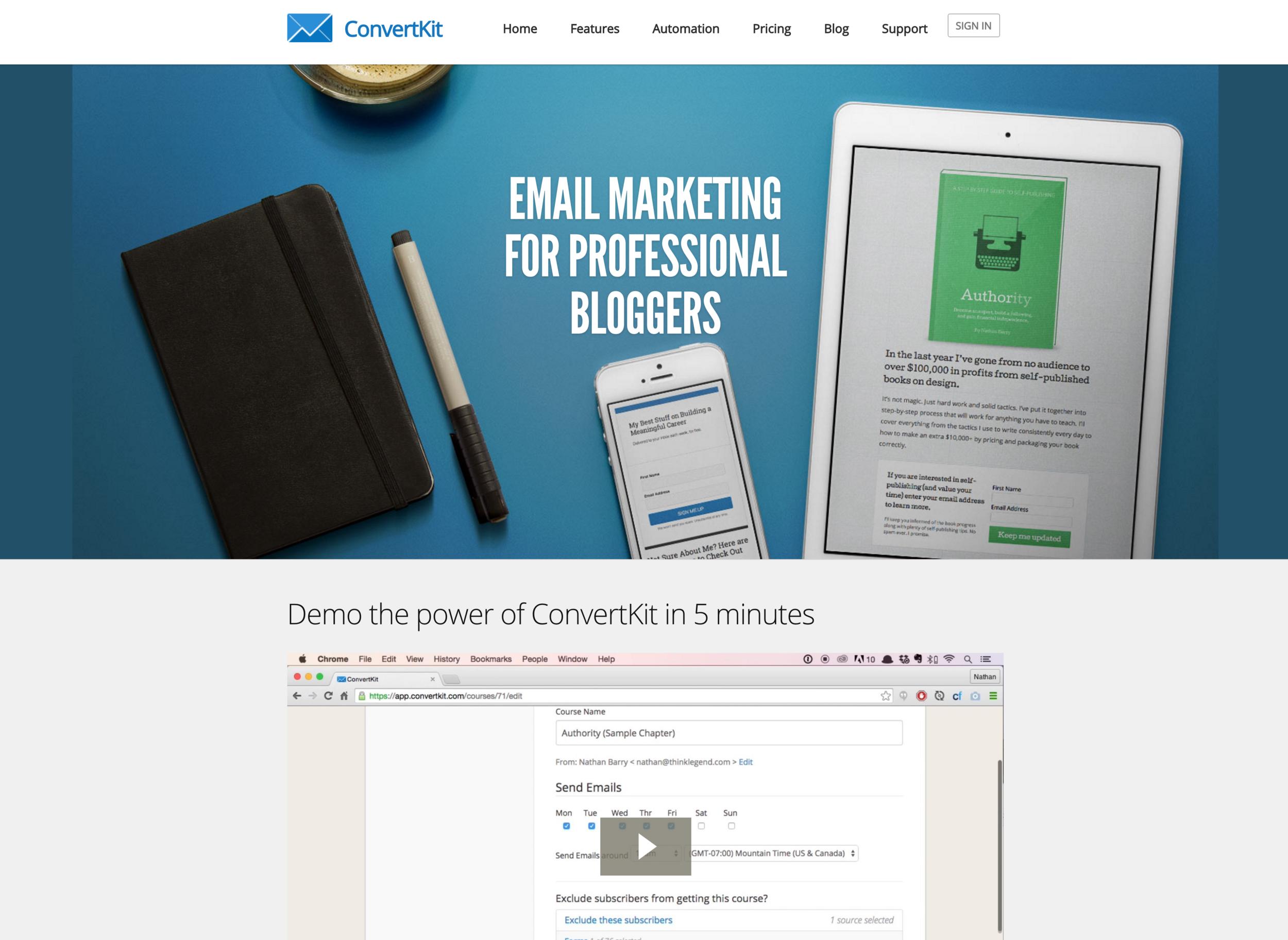 Click to visit ConvertKit