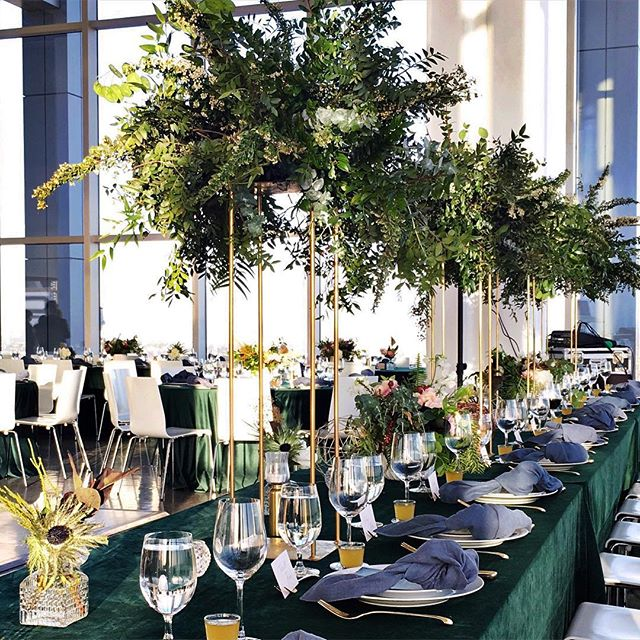 Ashley and Marlon's wedding satisfied my green obsession! #greenwithenvy #yellowbirdevents