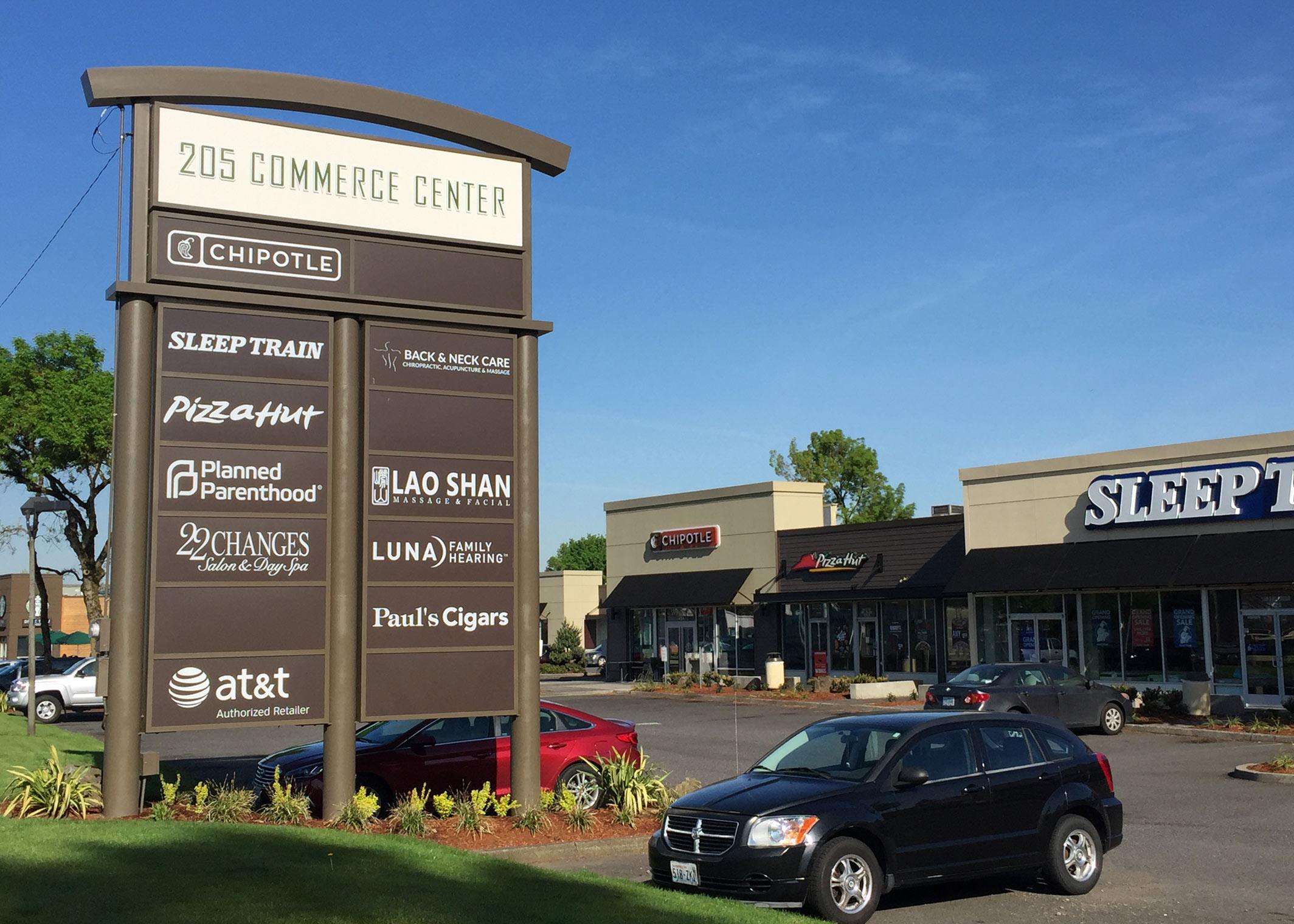 shopping center signage
