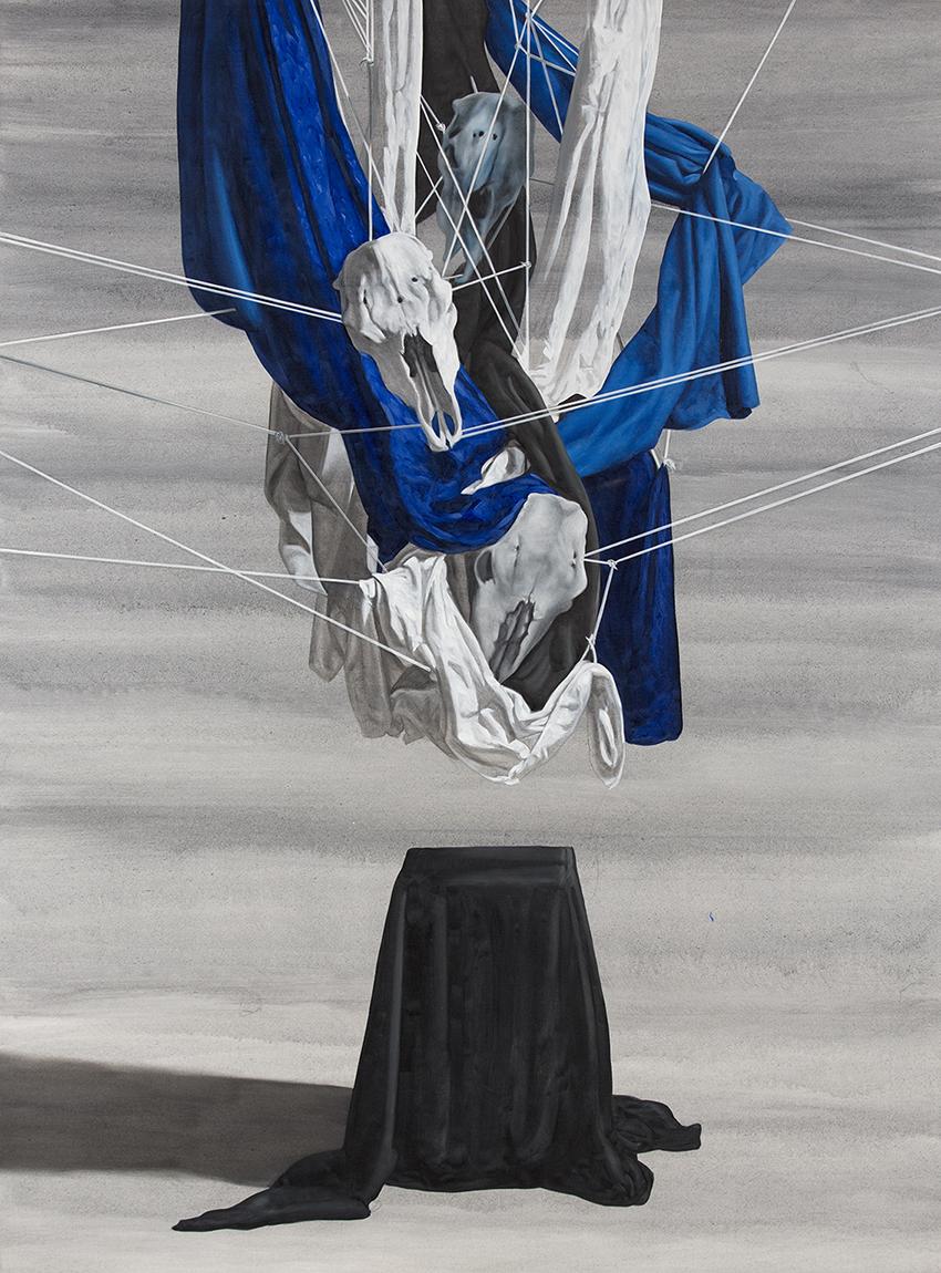 maelstrom  2014  oil on canvas  195 x 145 cm
