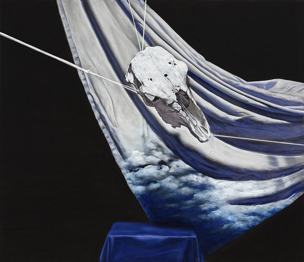 vanitas  2014 oil on canvas  92 x 107 cm