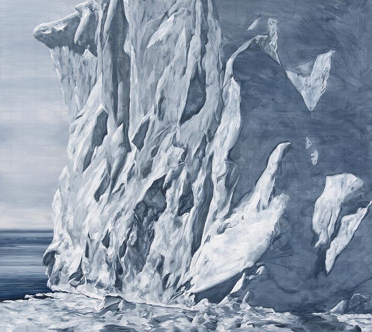 Icewall 2015 Oil On Panel 107 X 120 Cm  finalist paddington art prize 2015