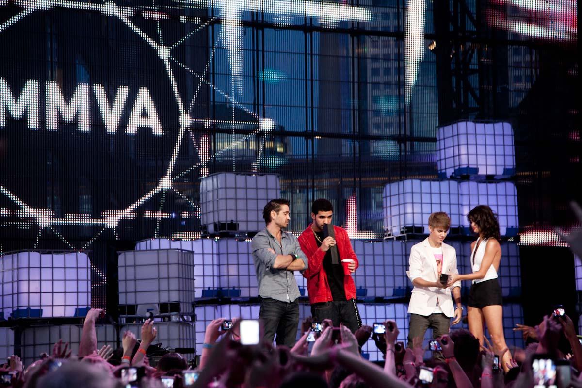 Justin Bieber, Drake, Colin Farrell, Selena Gomez